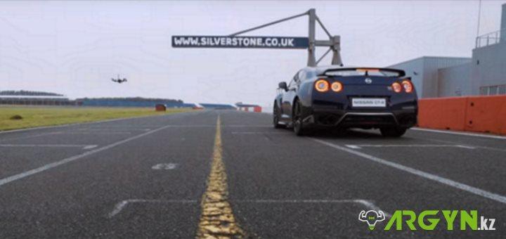 Nissan GT-R vs. тюнингованный квадрокоптер