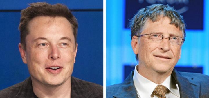 Элон Маск и Билл Гейтс